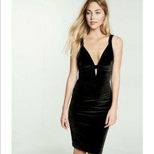 Express black velvet dress
